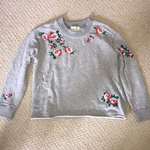 Madewell cropped sweatshirt with embroidery